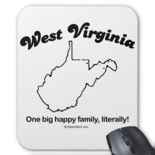 "WEST VIRGINIA   ""WEST VIRGINIA STATE MOTTO"" T shir Mouse Pads"