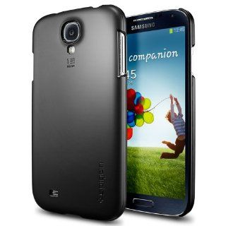 Galaxy S4 Case, Spigen� [Non Slip] Samsung Galaxy S4 Case Slim ***NEW*** [Ultra Fit] [Smooth Black] Rubbery Feel Non Slip Grip Matte Hard Case for Galaxy S IV Galaxy SIV i9500   ECO Friendly Packaging   Smooth Black (SGP10195) Cell Phones & Accessorie