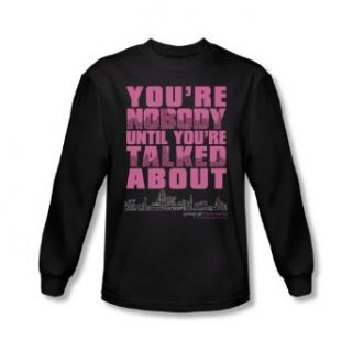 Mens GOSSIP GIRL Long Sleeve YOU'RE NOBODY T Shirt Tee Size S 2XL Clothing