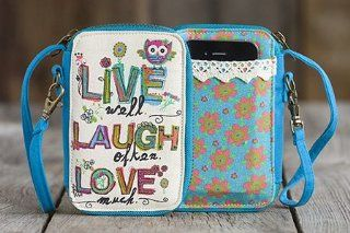 Natural Life   Live, Laugh, Love Everyday Wristlet   Gifts Inspirational Unique WLT087 NL Cell Phones & Accessories