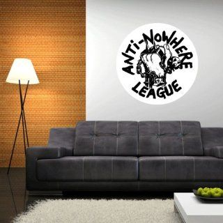 "Anti Nowhere League Wall Graphic Decal Sticker 23"" x 23""   Wall Decor Stickers"