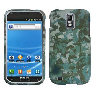 Hard Plastic Snap on Cover Fits Samsung T989 Hercules/ Galaxy S II 2 Lizzo Digital Camo/Green T Mobile Cell Phones & Accessories