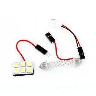 Auto Car 6 White 5050 SMD LED Map Reading Light w T10 Festoon Adapter Automotive
