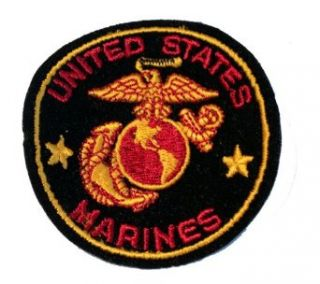 "USMC Marine Corps Military Embroidered Iron On Patch   ""Once A Marine, Always A Marine"" Eagle Globe Anchor Logo Applique Clothing"