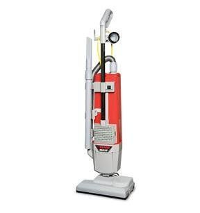 "Betco E88820 00 HF14   14"" Dual Motor Upright HEPA Vacuum, Includes Attached 50' Safety Yellow Power Cord, On Board Tool   Household Upright Vacuums"