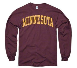 Minnesota Golden Gophers Maroon Arch Long Sleeve T Shirt  Sports Fan T Shirts  Sports & Outdoors