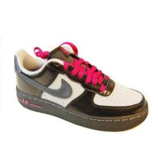 Nike Air Force 1 (GS) Youth Basketball Shoes (Blk/Mtllc Hmt Wlf Gry Bright Cr) 6.5y Shoes