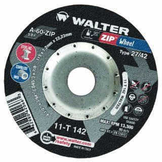 "Walter ZIP Wheel High Performance Cutoff Wheel, Type 27, Round Hole, Aluminum Oxide, 7"" Diameter, 1/16"" Thick, 7/8"" Arbor, Grit A 30 ZIP (Pack of 25) Abrasive Cutoff Wheels"