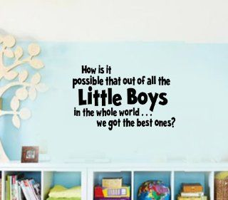 How is it possible that out of all the little boys in the whole world we got the BEST ONES Vinyl Wall Lettering Decal Kids Room   Wall Decor Stickers