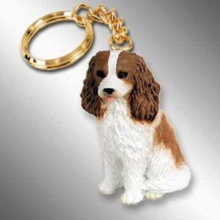 Cavalier King Charles Spaniel, Brown/White Tiny Ones Dog Keychains (2 1/2 in)