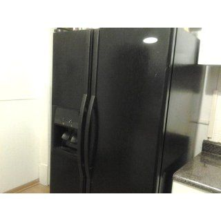 Whirlpool ED5KVEXVB 25.3 Cu. Ft. Black Side By Side Refrigerator   Energy Star Kitchen & Dining