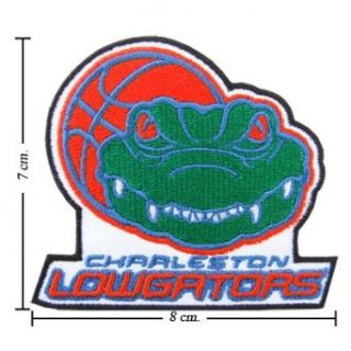 Charleston Lowgators The Past Logo Embroidered Iron Patches Clothing