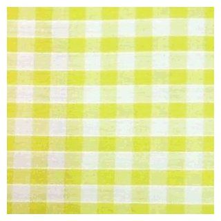"Yellow Gingham 1/4"" Check Cotton Fabric   per metre"