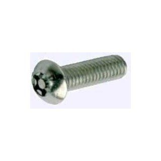 "#8 32 x 1"" Button Torx Tamper Resistant Cap Screws Stainless Steel, T 15 Driver Size Socket Cap Screws"