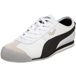 PUMA Men's Roma 68 Vintage Sneaker,White/Black,8.5 M Shoes