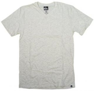 Quiksilver Blank V Neck T Shirt   Natural Heather   M Clothing