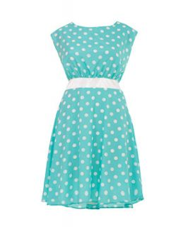 Lovedrobe Mint Green Polka Dot Dress