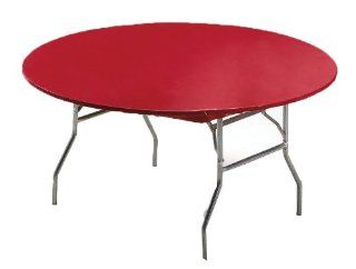 Creative Converting Round Stay Put Plastic Table Cover, 60 Inch, Regal Red Kitchen & Dining