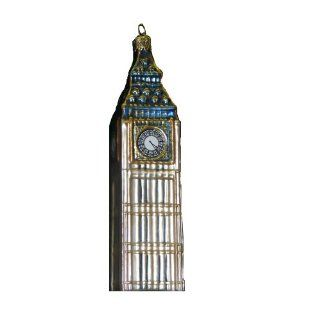 Kurt Adler 5 1/2 Inch Noble Gems Glass Big Ben Ornament   Decorative Hanging Ornaments