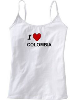 I LOVE COLOMBIA   Country Series   White Women's / Girls Camisole (Girlie / Babydoll) Clothing
