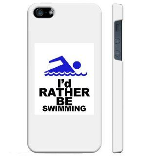 SudysAccessories I'd Rather Be Swimming iPhone 5 Case iPhone 5S case   SoftShell Full Plastic Direct Printed Graphic Case Cell Phones & Accessories