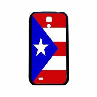 Puerto Rico Flag Samsung Galaxy S4 Black Silcone Case   Provides Great Protection Cell Phones & Accessories