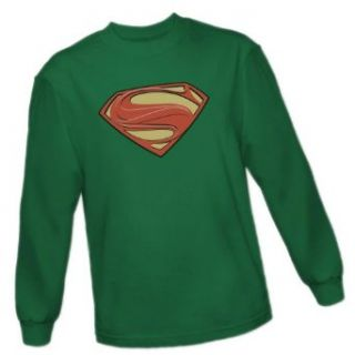 Solid Superman Shield    Man of Steel Movie Adult Long Sleeve T Shirt Movie And Tv Fan T Shirts Clothing