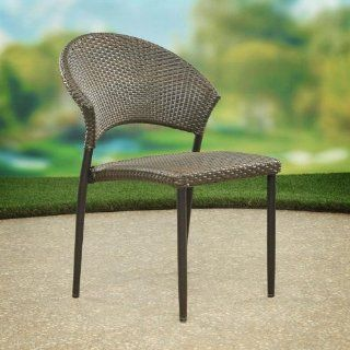 Flint Hills Living Quinter All Weather Wicker Stackable Dining Chairs  Patio Dining Chairs  Patio, Lawn & Garden