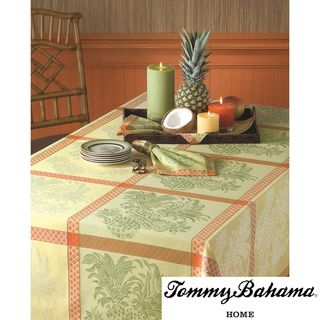 Tommy Bahama Cotton Pineapple Jacquard Tablecloth Tommy Bahama Table Linens