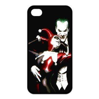 Batman The Joker and Harley Quinn Love Unique Durable TPU Rubber Case Cover for Apple Iphone 4 4S Custom Design UniqueDIY Cell Phones & Accessories