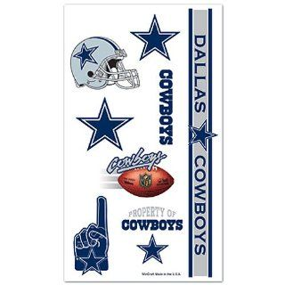 Dallas Cowboys Nfl Temporary Tattoos Wincraft  Sports Related Merchandise  Sports & Outdoors