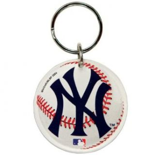 New York Yankees   Baseball Logo Acrylic Keychain  Sports Related Key Chains  Clothing