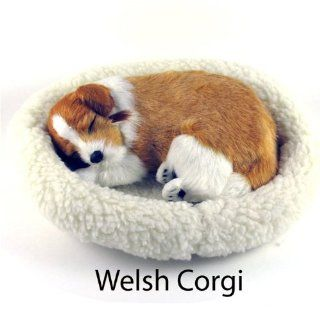 Welsh Corgi Puppy   Pet Mate / Nap Breathing Life Like Sleeping Dog in Bed Toys & Games
