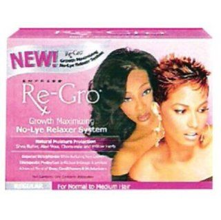 Empress Re Gro Growth Maximizing No Lye Relaxer System REGULAR  Hair Relaxer  Beauty