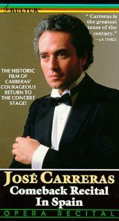 Jose Carreras   Comeback Recital in Spain [VHS] Jose Carreras Movies & TV