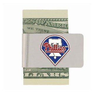 Philadelphia Phillies Enameled Metal Money Clip/Card Holder   MLB Baseball Fan Shop Sports Team Merchandise  Sports Related Merchandise  Sports & Outdoors