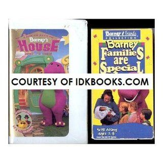 **Children's VHS Come On Over To Barney's House *Plus Free Gift Barney Families Are Special *Ships Same Day With Free Tracking* Barney, BJ Movies & TV