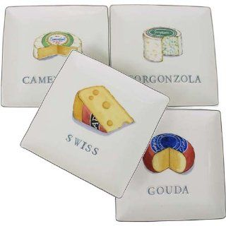 Say Cheese Appetizer Plates Set of 4 Snack Plates Kitchen & Dining