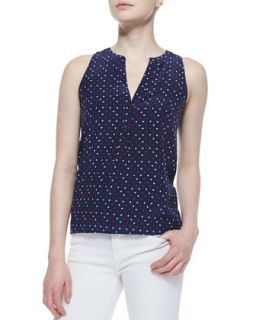 Womens Aruna Playing Cards Silk Printed Tank Top   Joie   Dark navy (MEDIUM)