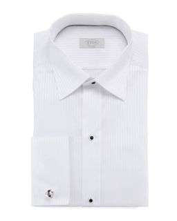 Mens Classic Fit Tonal Striped Dress Shirt, White   Eton   White (18)