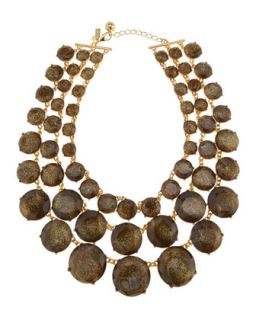triple strand glitter facet necklace   kate spade new york   Gold