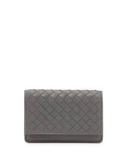 5/6 Credit Card Flip Case, New Light Gray   Bottega Veneta   New light gray