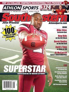 Athlon Sports 2012 College Football Southeastern (SEC) Preview Magazine  South Carolina Gamecocks Cover  Sports Fan Prints And Posters  Sports & Outdoors