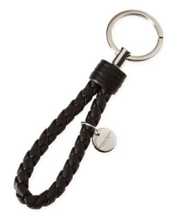 Braided Loop Key Ring, Black   Bottega Veneta   Black