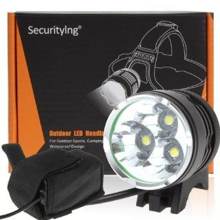 SecurityIng� Outdoor 3X CREE XM L T6 LED 3800Lm LED Bicycle Light  Bike Headlights  Sports & Outdoors