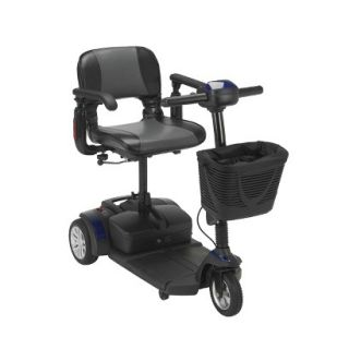 Spitfire EX 1320 3 Wheel Compact Size Scooter   Midnight Blue, Folding Seat,