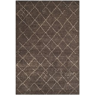 Safavieh Tunisia Dark Brown Rug (6 X 9)