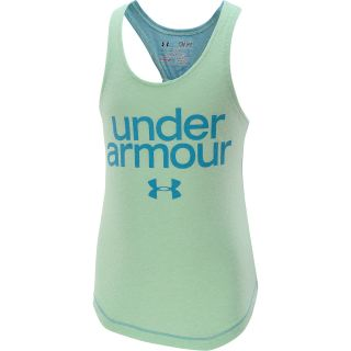 UNDER ARMOUR Girls Qualifier Tri Blend Tank Top   Size XS/Extra Small, Aloe
