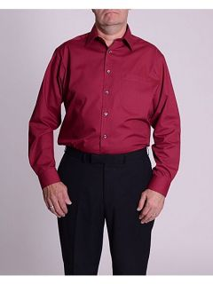 Double TWO Classic plain long sleeve shirt Burgundy