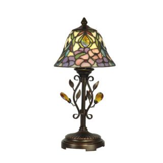 Dale Tiffany Crystal Peony Accent Table Lamp
